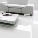 FALQUON Weiß/ White Hochglanz Laminat D2935 ohne fuge
