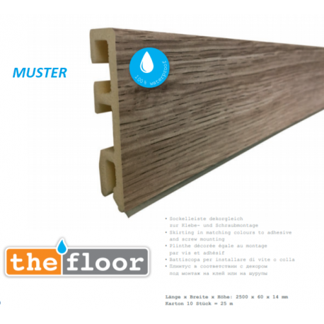 THE FLOOR Profilsockelleiste - P3001 Nebbia