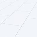 FALQUON Uni White/Weiß / Hochglanz Laminat / Fliese