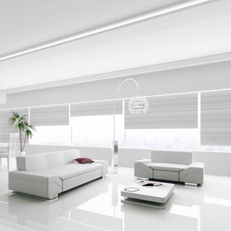 FALQUON MAX - D2935 Uni White/Weiß / Hochglanz Laminat / XXL