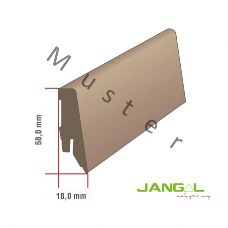 JANGAL Vinyl - 4040 Leona Hickory / Profilsockelleiste