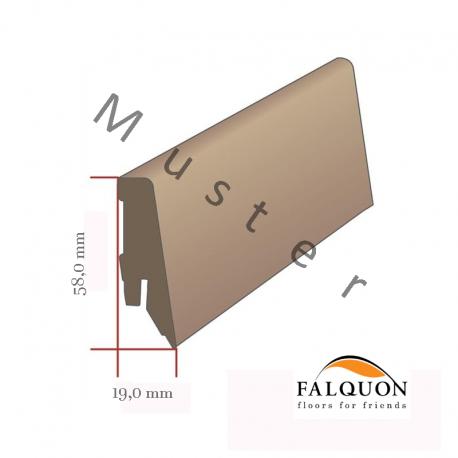 FALQUON - D3687 Oak Auxerre / Profilsockelleiste 58mm / Hochglanz