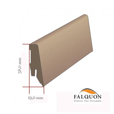 FALQUON - D2920 Plateau Maple / Profilsockelleiste 58mm / Hochglanz