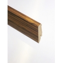 D3689 Ebony Makassar Sockelleiste Braun Holz Hochglanz