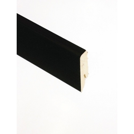 FALQUON - U190 Uni Black / Profilsockelleiste 58mm / Hochglanz