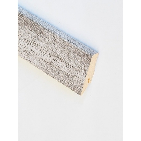 D4187 White Oak Sockelleiste Holz Grau Silver Hochglanz