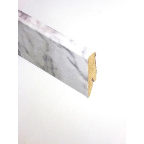 D2921 Carrara Marble Sockelleiste Stein Hochglanz