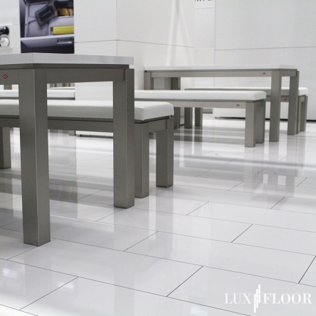 FALQUON Stone 2.0 - D2935 Uni White / Hochglanz Laminat / Fliese